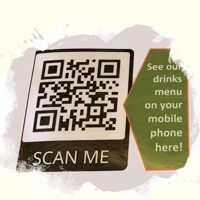 QR code to find the drinks list