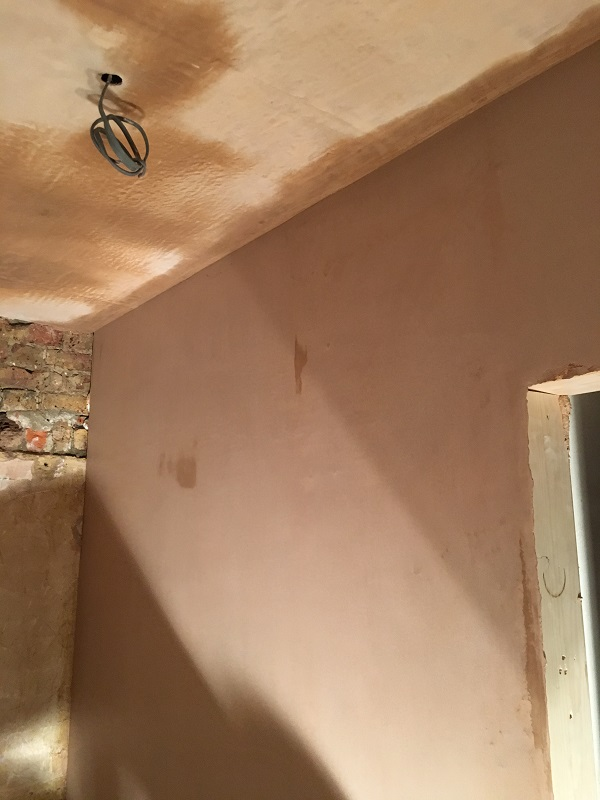 New plaster in gents drying out