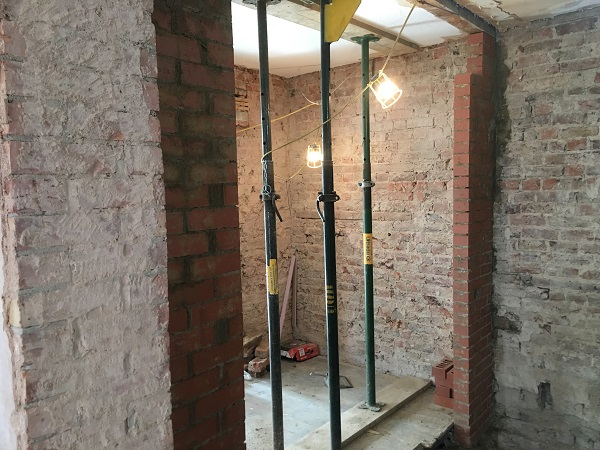 New support walls built by Paul the Brickie