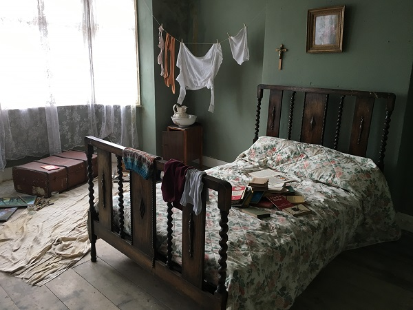 Main bedroom ready for filming