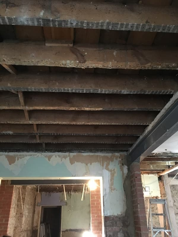 Old ceiling is being removed