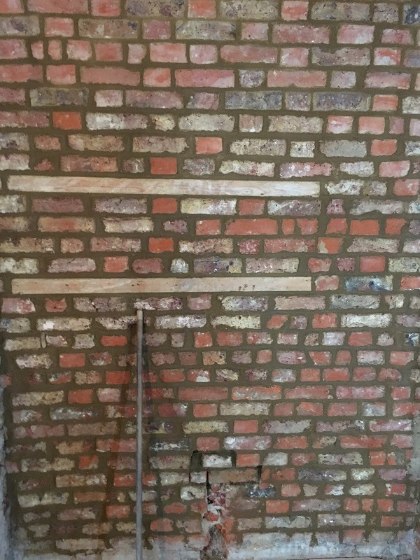 A wall in the bar re-pointed and made to look really sexy