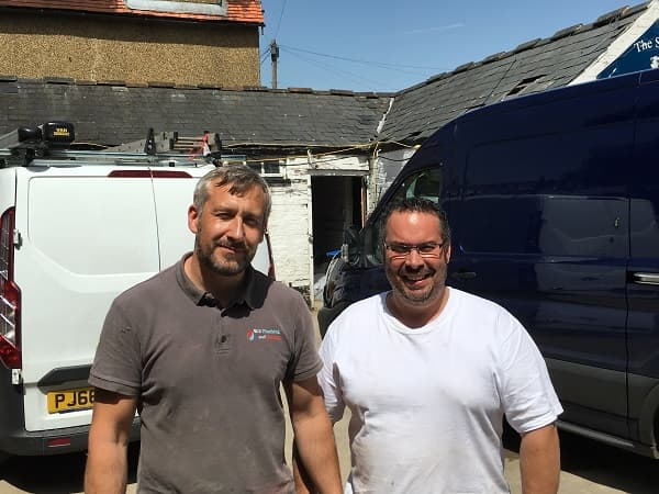 Our plumbers - Rob and Scott