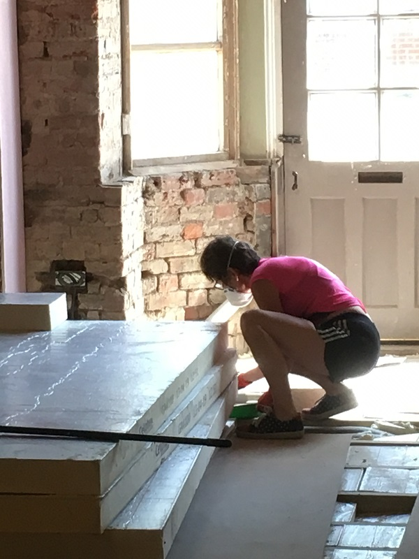 Theresa measuring up insulation