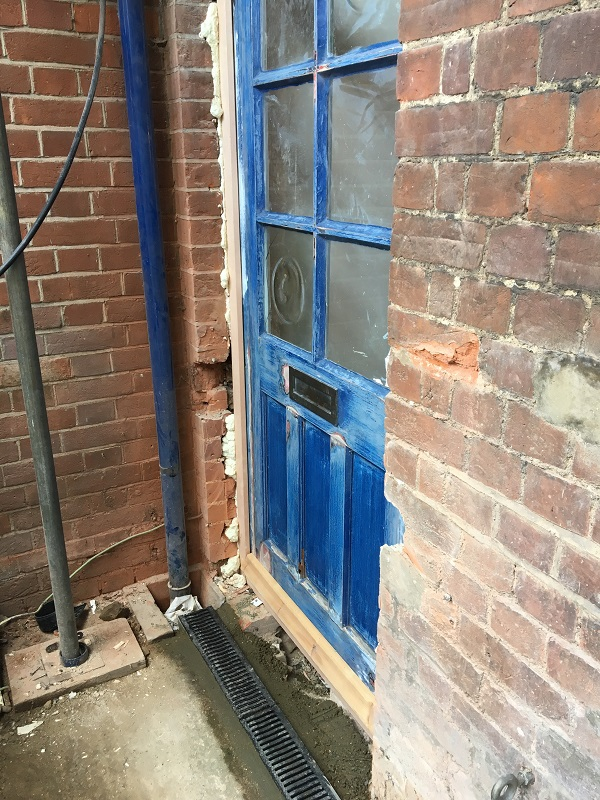 Re-used old front alcove door