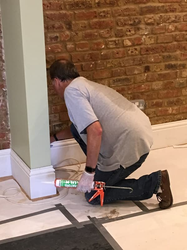 Painting the skirting