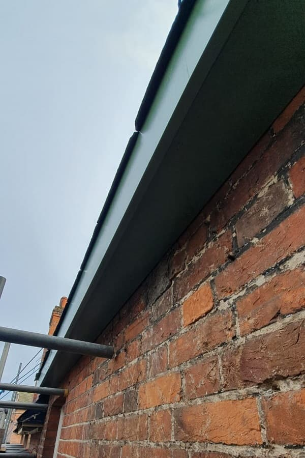 New soffits and fascias from below