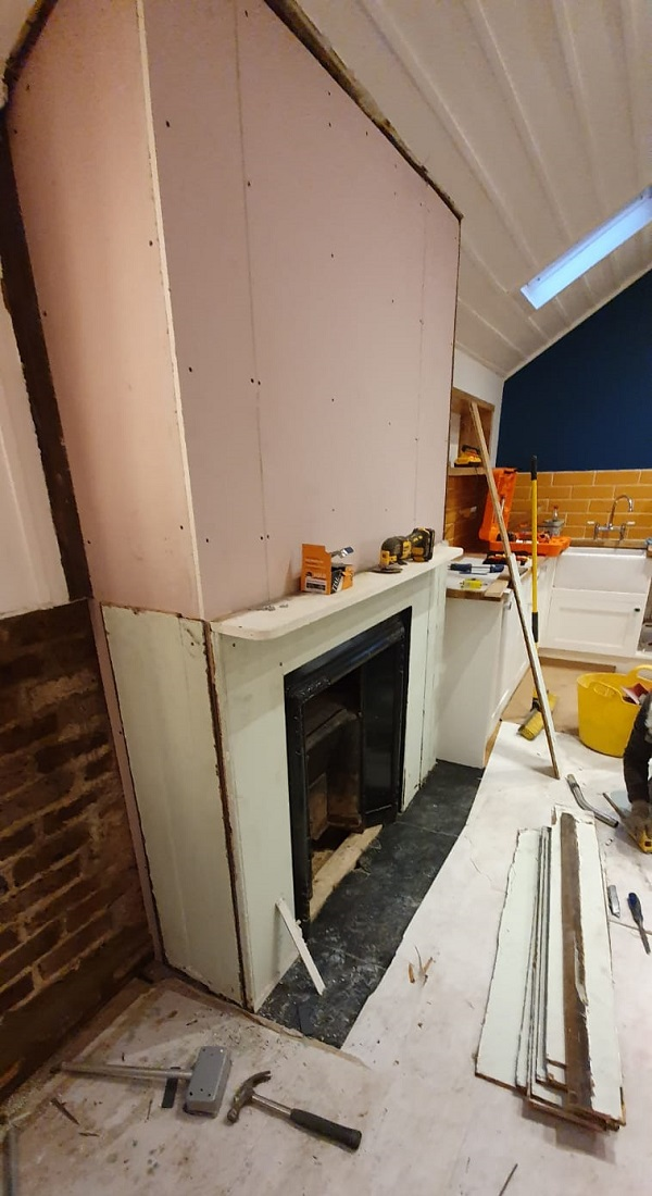 Fireplace being re-instated
