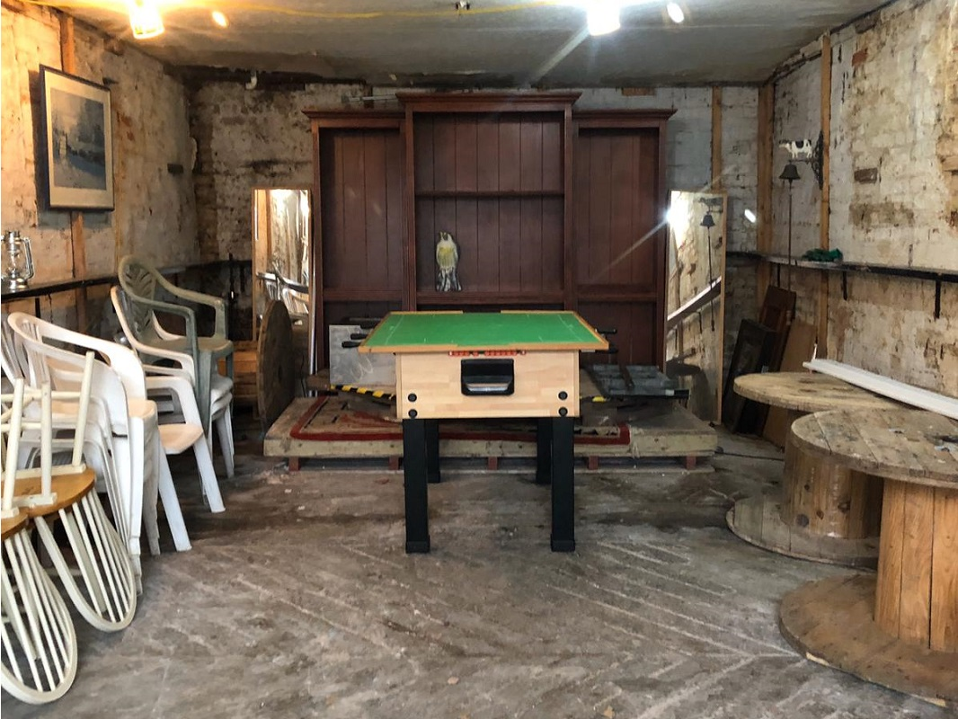 Coach House has been tidied and football table installed