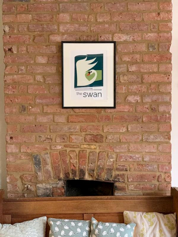 Sawn pixture reinstated on one of the fireplaces