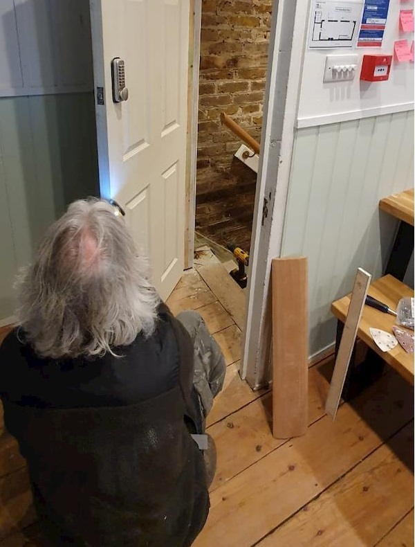 Alteration to a fire door